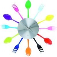 Nástenné hodiny do kuchyne Multicolor 36cm