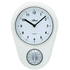 Kuchynské nástenné hodiny s časovačom, Atlanta 6121/0, 22,5 cm