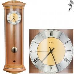 Kyvadlové nástenné hodiny 5080/16 AMS riadené rádiovým signálom, 82cm