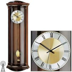 Kyvadlové nástenné hodiny 5080/1 AMS riadené rádiovým signálom, 82cm