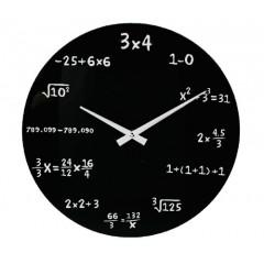 Matematické hodiny sklenené 35cm