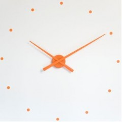 NOMON OJ Dizajnové nástenné hodiny oranžové 50cm