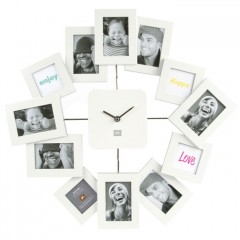 Nástenné Hodiny Family Time Foto biele 42cm