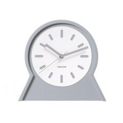 Nástenné aj stolové obojstranné hodiny 5453GY Karlsson 23cm