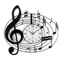 Nástenné dizajnové hodiny JVD HJ03 Music 55cm