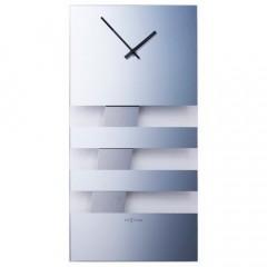 Hodiny na stenu Nextime BOLD STRIPES 2855mi zrkadlové 38x19cm