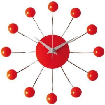 Nástenné hodiny Karlsson 4018 Spider red 30cm