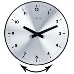 Nástenné hodiny Fisura Aluminium Office 34cm