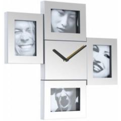 Nástenné hodiny Fisura Steel Photo Frames 43cm