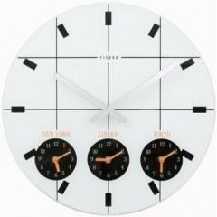 Nástenné hodiny Fisura, World Time white 40cm