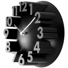 Nástenné hodiny 24288 Balvi black 22cm