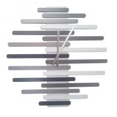 Nástenné hodiny 1060 Grayscale 60 cm