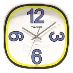 Nástenné hodiny Twins 10511 blue 30cm