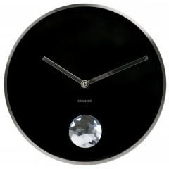 Kyvadlové nástenné hodiny 5334Bk Karlsson 35cm