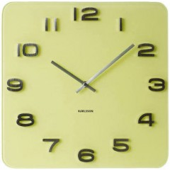 Nástenné hodiny Karlsson KA5488YE Vintage yellow 35cm