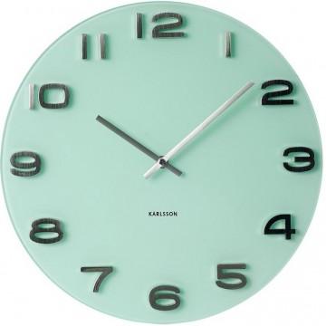 Nástenné hodiny Karlsson KA5489PG Vintage pastel green 35cm