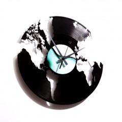 Nástenné hodiny Discoclock 014 World 30cm
