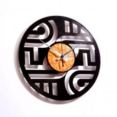 Nástenné hodiny Discoclock 015 Geometry 30cm