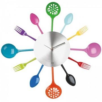 Nástenné hodiny do kuchyne príbor 43cm