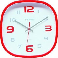 Nástenné hodiny Twins 10513 red 30cm