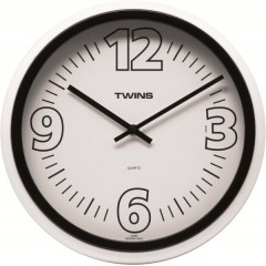 Nástenné hodiny Twins 2896 black 31cm