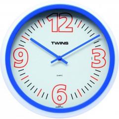 Nástenné hodiny Twins 2896 blue 31cm
