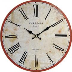 Nástenné hodiny hl Cafe de Paris 34cm