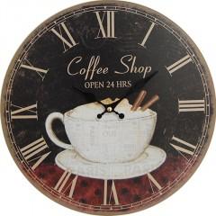 Nástenné hodiny hl Paris Coffe Shop 34cm