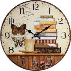Nástenné hodiny hl Butterfly 34cm