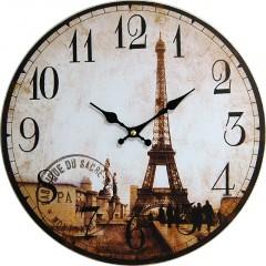Nástenné hodiny hl tour Eiffel 34cm