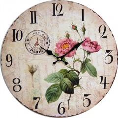 Nástenné hodiny hl ROSE 34cm