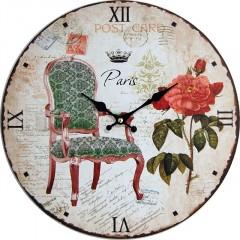 Nástenné hodiny hl Post card Paris 34cm