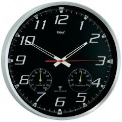 Nástenné hodiny DCF Mebus s teplomerom a vlhkomerom, 35 cm