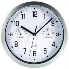 Nástenné hodiny Mebus s teplomerom a vlhkomerom, 25 cm