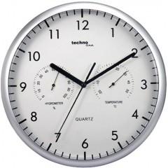 Nástenné hodiny s teplomerom a vlhkomerom Techno Line, 26 cm