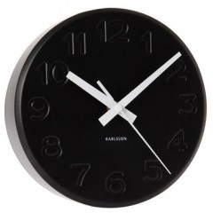 Nástenné hodiny 5477bk Karlsson 19cm