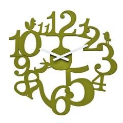 Nástenné hodiny PI:P olivová, 45cm