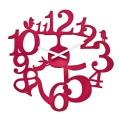 Nástenné hodiny Koziol PI:P malinová, 45cm