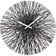 Nástenné hodiny Koziol SILK čierna, 45cm