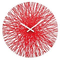 Nástenné hodiny Koziol SILK transparentná červená, 45cm