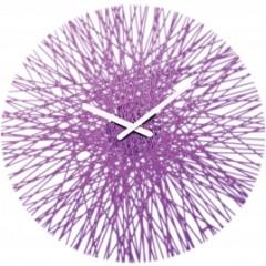 Nástenné hodiny Koziol SILK transparentná fialová, 45cm