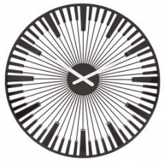 Nástenné hodiny PIANO čierna, Koziol, 45cm