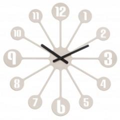 Nástenné hodiny PINBALL, Koziol, šedobéžová 45cm