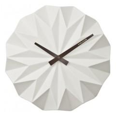 Nástenné hodiny KA5531WH Karlsson, Origami, 27cm