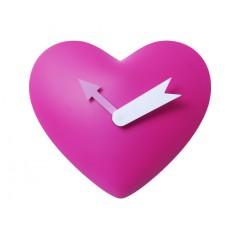 Nástenné hodiny Heart, ružové, 25cm