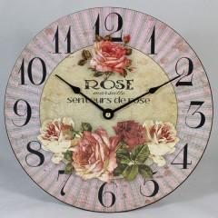 Nástenné hodiny HLC, Rose 2, 30cm