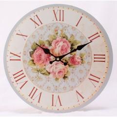 Nástenné hodiny HLC, 4 roses, 34cm