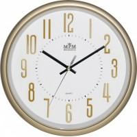 Nástenné hodiny MPM, 3171.8000 - zlatá/biela, 31cm