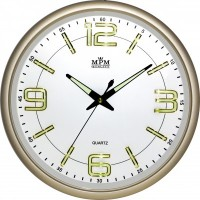 Nástenné hodiny MPM, 3170.80 - zlatá, 34cm