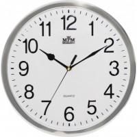 Nástenné hodiny MPM, 3169.71 - strieborná lesklá, 31cm